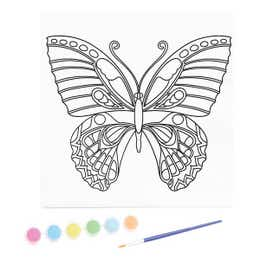 Kaisercraft Paint By Numbers Butterfly Kids Canvas