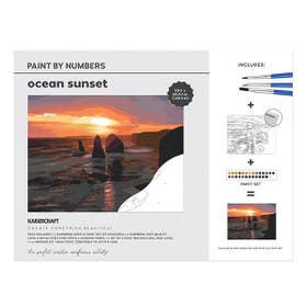 Kaisercraft Paint By Numbers Ocean Sunset Canvas