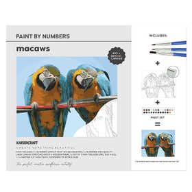 Kaisercraft Paint By Numbers Macaws Canvas