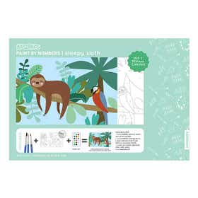 Kaisercraft Paint By Numbers Sleepy Sloth Kids Canvas