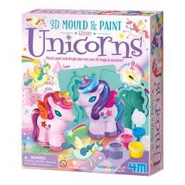 4M Mould & Paint 3D Glitter Unicorns Kit