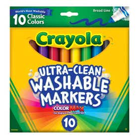 Crayola Ultra Clean Broad Line Washable Marker Packs Classic Colours