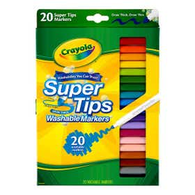Crayola Super Tip Washable Markers Pack 20