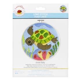 Lady Bird Ocean Baby Long Stitch Round Kit