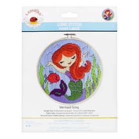Lady Bird Mermaid Long Stitch Round Kit