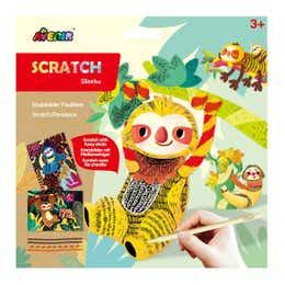 Avenir Sloths Scratch Art