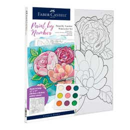 Faber-Castell Watercolour Paint By Numbers (Floral)