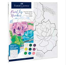 Faber-Castell Watercolour Paint By Numbers (Succulents)