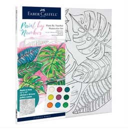 Faber-Castell Watercolour Paint By Numbers (Tropical)