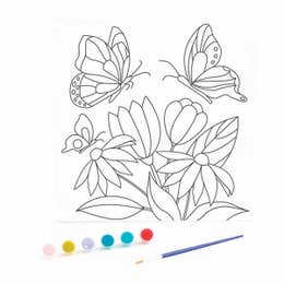 Kaisercraft Paint By Numbers Butterfly Garden Canvas