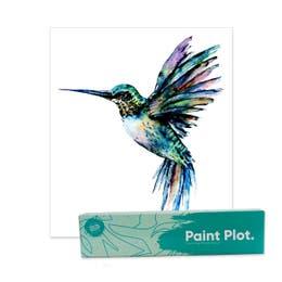 Paint Plot Paint By Numbers Hummingbird Kit