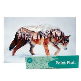 Paint Plot Paint By Numbers Forest Wolf Kit