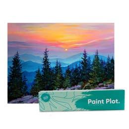 Paint Plot Paint by Numbers Misty Mountain Sunrise Kit