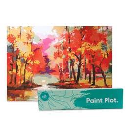 Paint Plot Paint By Numbers Colourful Autumn Kit