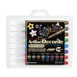 Artline Decorite Metallic Brush Marker Set