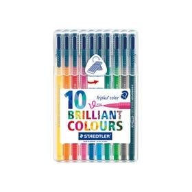 STAEDTLER Triplus Colour Fibre Tip Pen Sets Wallet 10