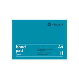 Eckersley's Bond Pads 70gsm 50 Pages A4