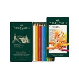 Faber-Castell Polychromos Colour Pencil Tin 12