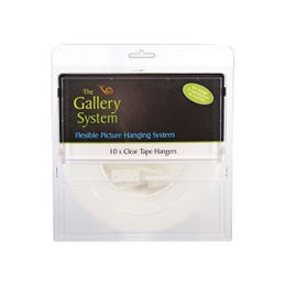 Gallery Hanging System Clear Tape Pack 10