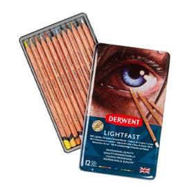 Derwent Lightfast Pencil Sets Tin 12 Colours