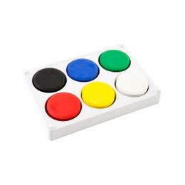 EC Tempera Palette Sets Assorted Colours Set of 6 Discs 44mm x 8mm