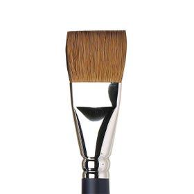 "Winsor & Newton Artists' Watercolour Sable One Stroke Brush Flat Short Handle Size 1"""