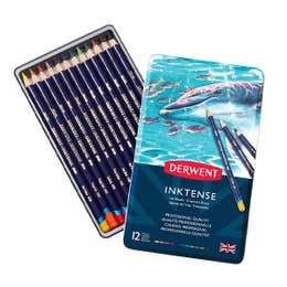 Derwent Inktense Pencil Tin 12 Open