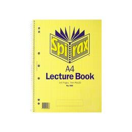 Spirax Lecture Book A4