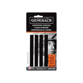 General's Compressed Charcoal Sets Charcoal Black #957