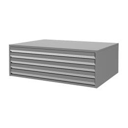 Planex Drawer 5 Drawer A0 Silver Grey