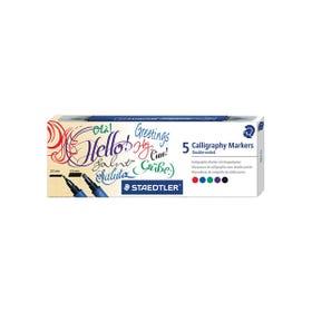 STAEDTLER Calligraphy Duo Tip Marker Set 5