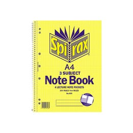Spirax Subject Book