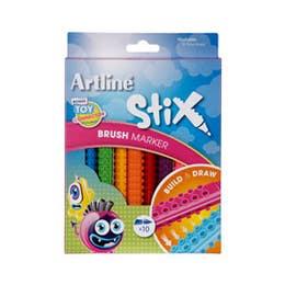Artline Stix Brush Marker Sets Set 10
