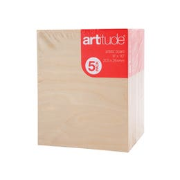 """Artitude Thick Edge Artists' Boards 10"""" x 10"""" (Pack 4)"""