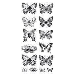 Kaisercraft Clear Stickers Butterflies