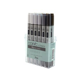 Copic Ciao Marker Sets Assorted Greys Set 12