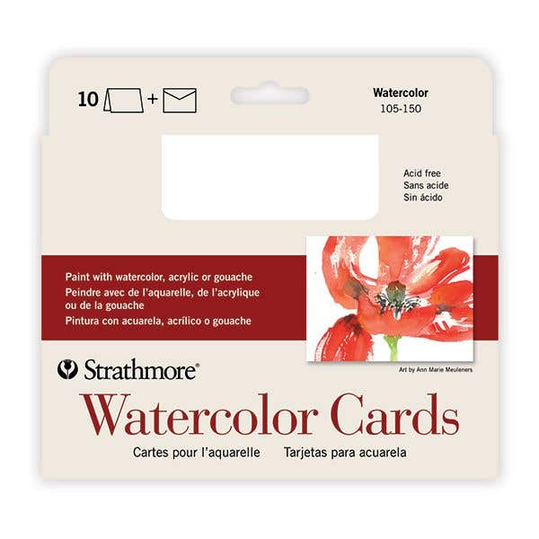 Strathmore Water Colour Cards Envelope Pack