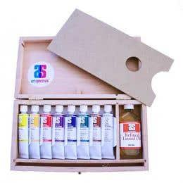 Art Spectrum Oil Wooden Box Set