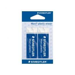 STAEDTLER Mars Plastic Eraser Blister Twin Pack