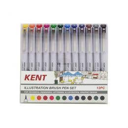 Kent Graphic Illustration Brush Marker Set