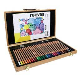 Reeves Colour Pencils Wooden Box Set