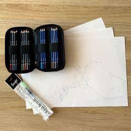 Jasart Studio Pencil Platypus Drawing Kit