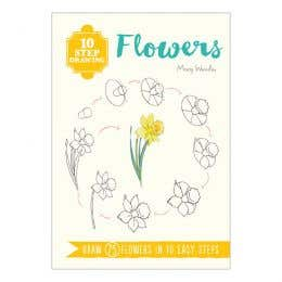 10 Step Drawing Flowers Book
