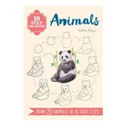 10 Step Drawing Animals Book