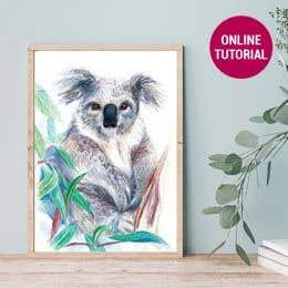 Jasart Studio Pencil Koala Drawing Online Tutorial