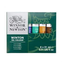 Winsor & Newton Winton Oil Colour 6x12ml Tube Set