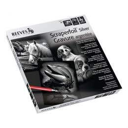 Reeves Silver Scraperfoil Animals Gift Set