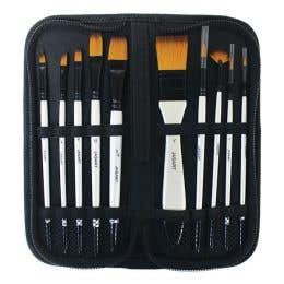 Jasart Pearl White Synthetic Brush Wallet Sets