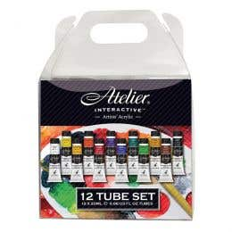 Atelier Interactive Artists' Acrylic 12 x 20ml Paint Set