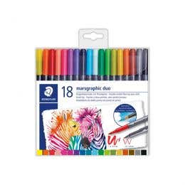 STAEDTLER Marsgraphic Duo Watercolour Brush Pen Sets